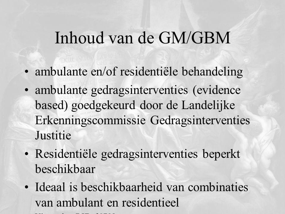 Inhoud van de GM/GBM ambulante en/of residentiële behandeling