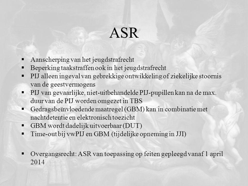 ASR Aanscherping van het jeugdstrafrecht