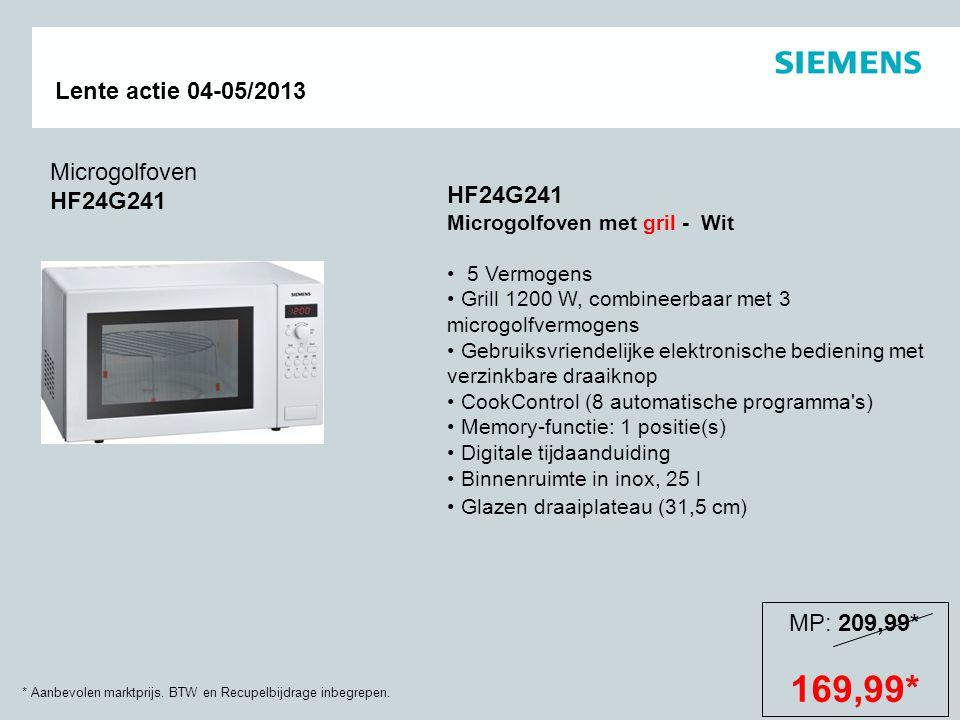 169,99* Microgolfoven HF24G241 HF24G241 MP: 209,99*