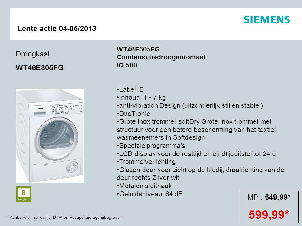 WT46E305FG Condensatiedroogautomaat IQ 500