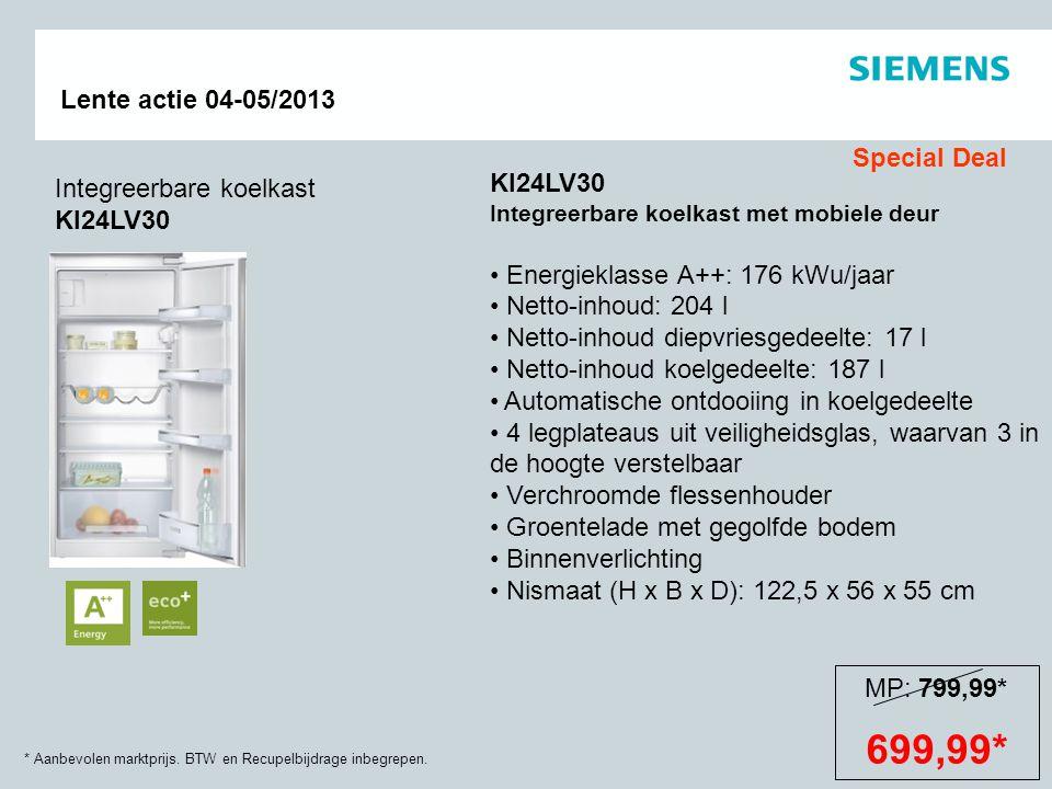 699,99* Special Deal KI24LV30 Integreerbare koelkast KI24LV30