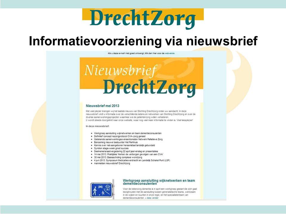 Informatievoorziening via nieuwsbrief