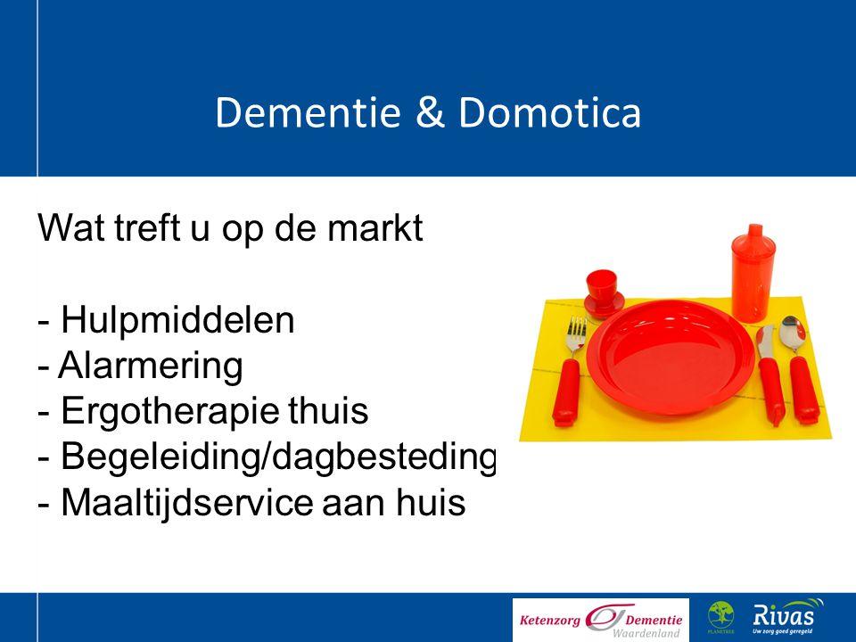 Dementie & Domotica Wat treft u op de markt Hulpmiddelen Alarmering