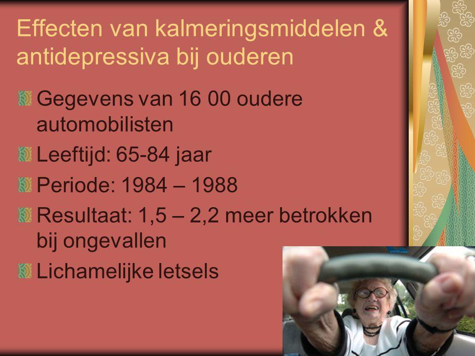 Effecten van kalmeringsmiddelen & antidepressiva bij ouderen