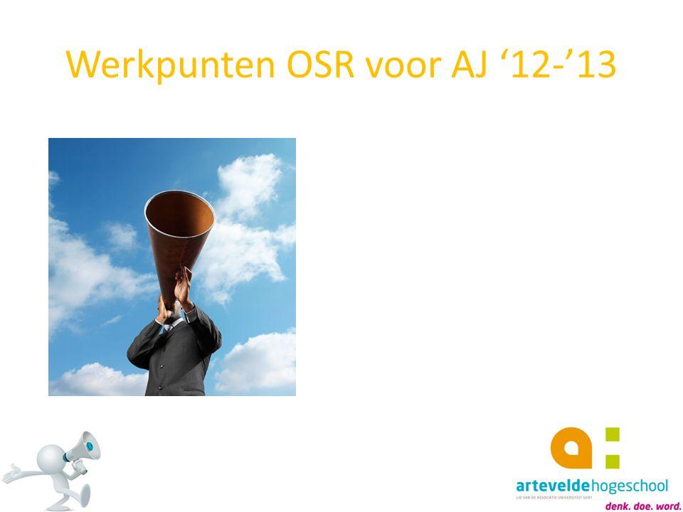 Werkpunten OSR voor AJ '12-'13