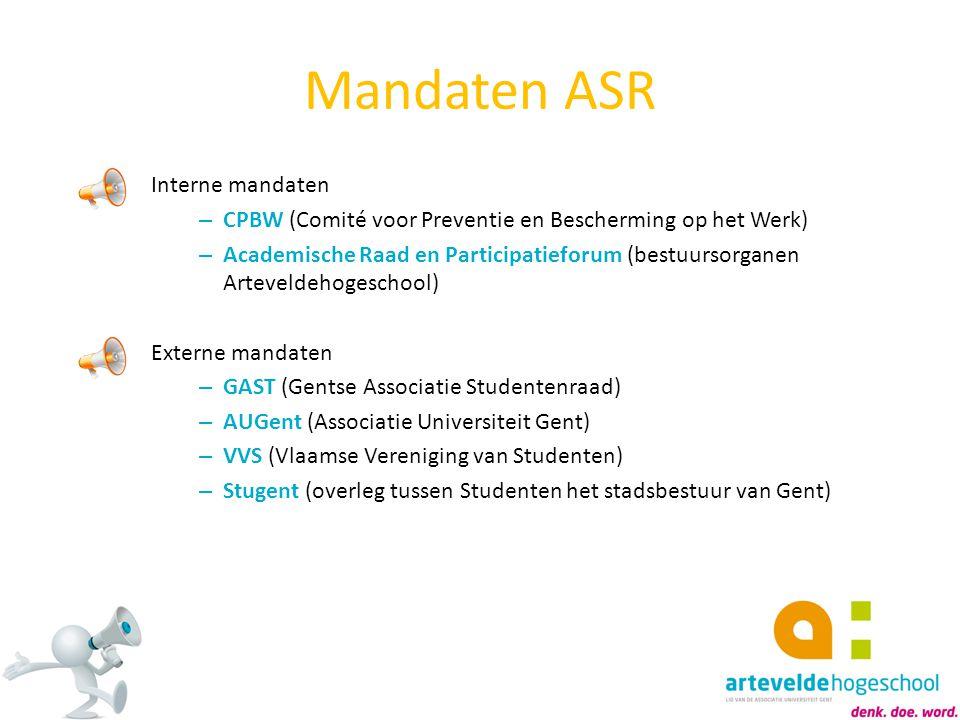 Mandaten ASR Interne mandaten