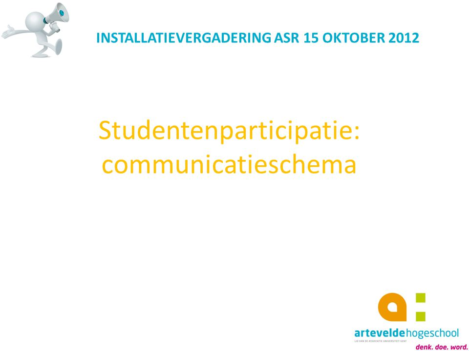Studentenparticipatie: communicatieschema