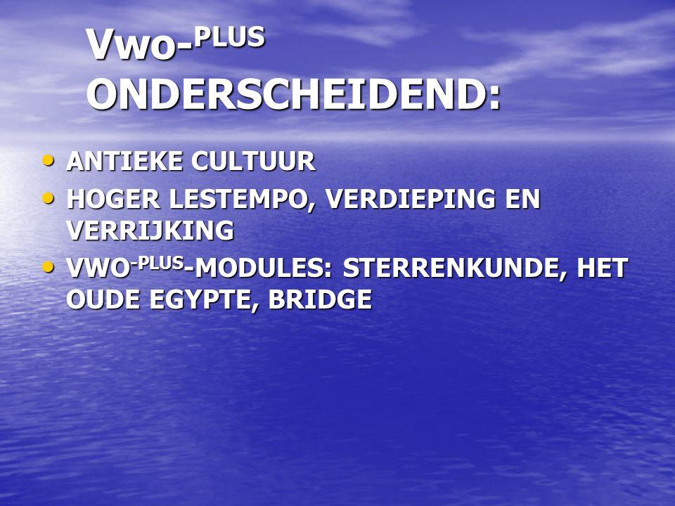 Vwo-PLUS ONDERSCHEIDEND: