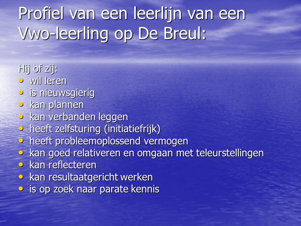 Profiel van een leerlijn van een Vwo-leerling op De Breul: