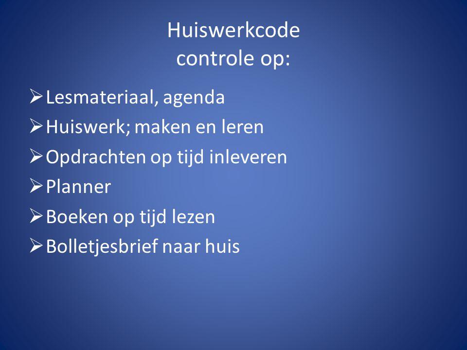 Huiswerkcode controle op: