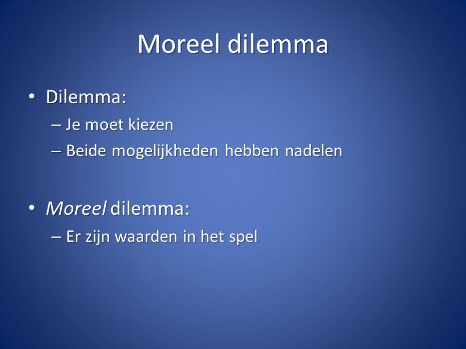 Moreel dilemma Dilemma: Moreel dilemma: Je moet kiezen