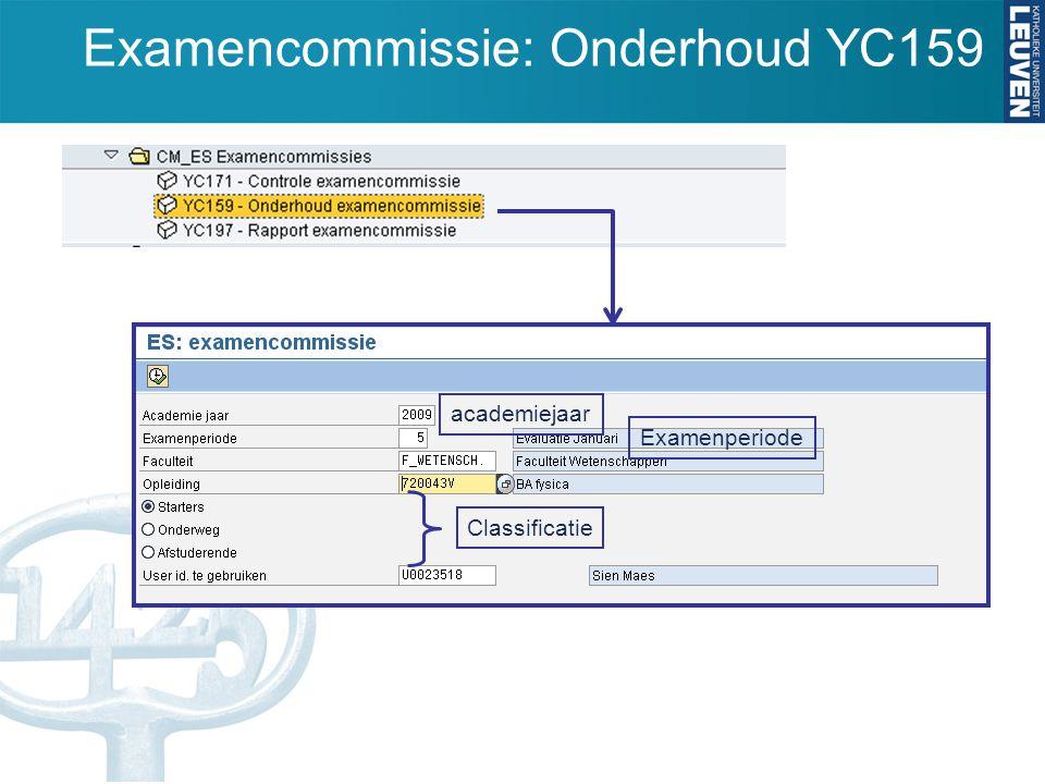 Examencommissie: Onderhoud YC159