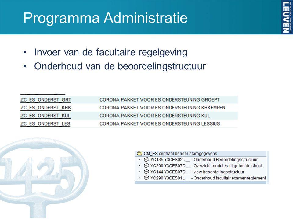 Programma Administratie