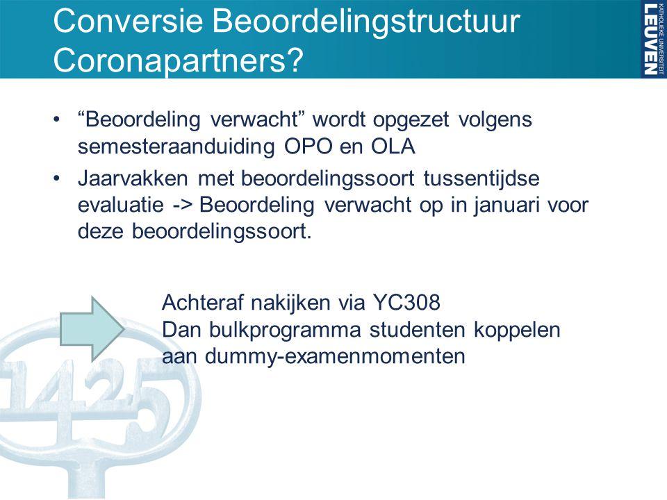 Conversie Beoordelingstructuur Coronapartners
