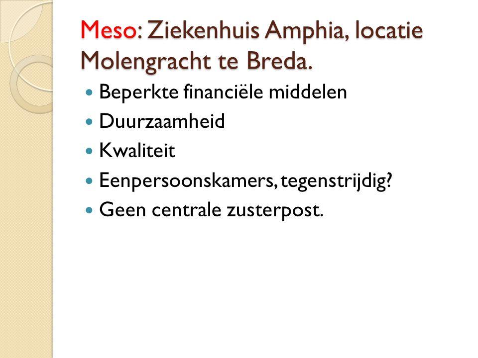 Meso: Ziekenhuis Amphia, locatie Molengracht te Breda.