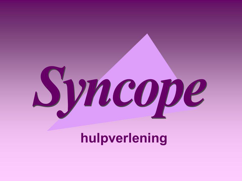 Syncope hulpverlening