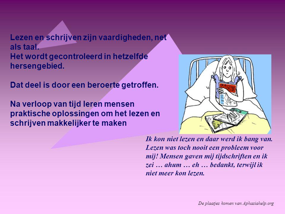 Lezen en schrijven zijn vaardigheden, net als taal.