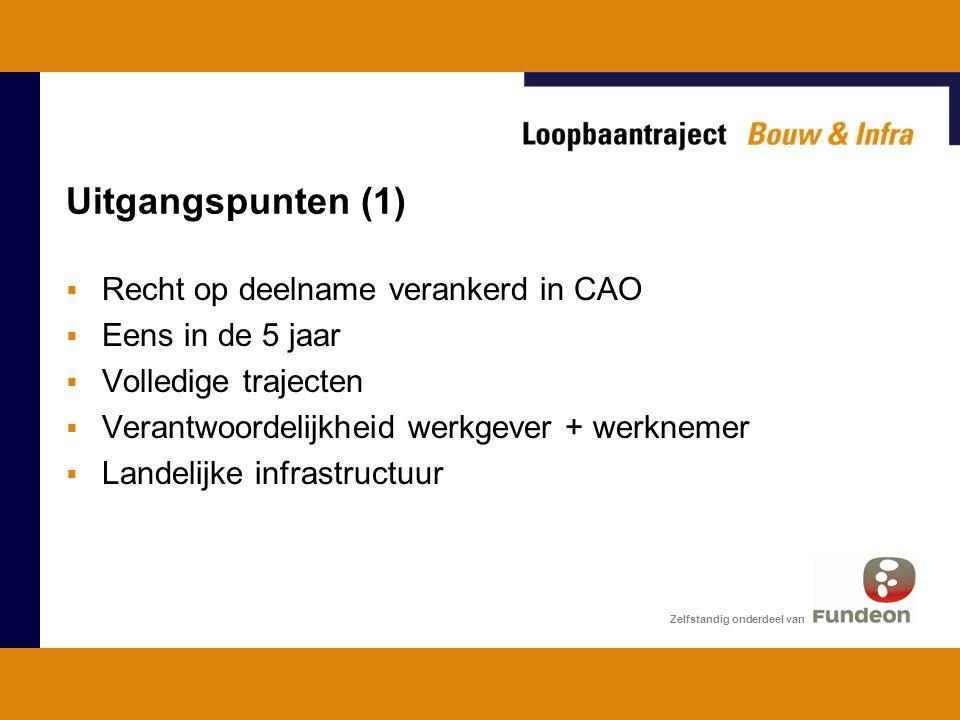 Uitgangspunten (1) Recht op deelname verankerd in CAO