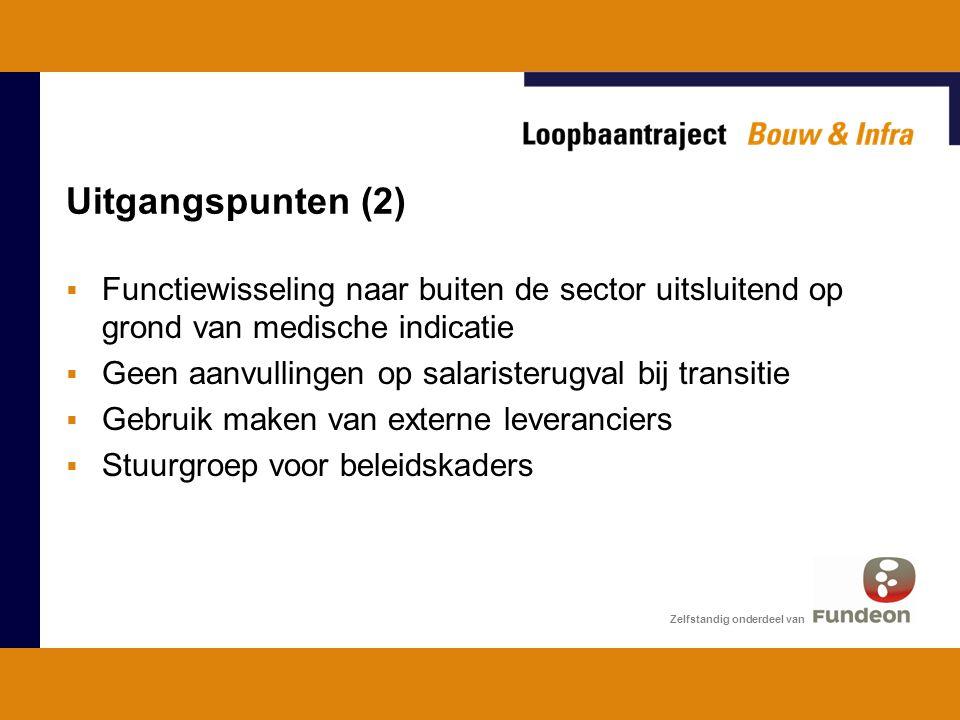 Uitgangspunten (2) Functiewisseling naar buiten de sector uitsluitend op grond van medische indicatie.