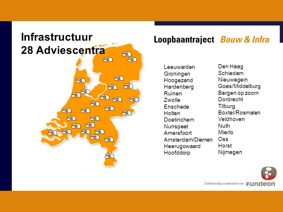 Infrastructuur 28 Adviescentra . Leeuwarden Den Haag Groningen
