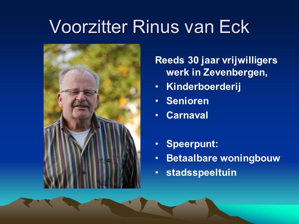 Voorzitter Rinus van Eck