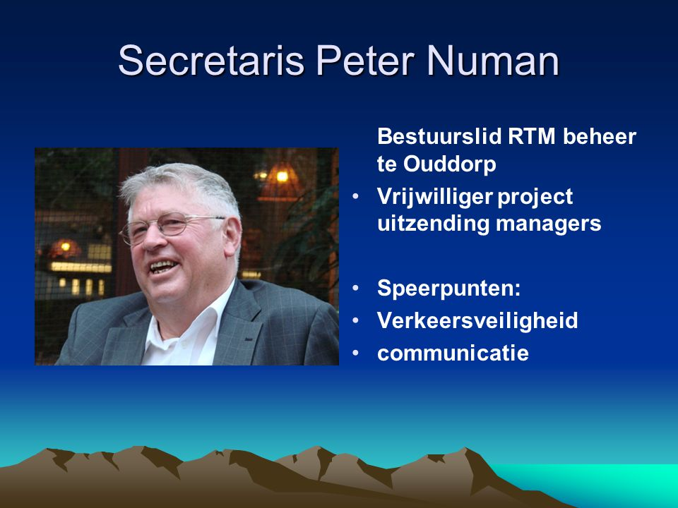 Secretaris Peter Numan