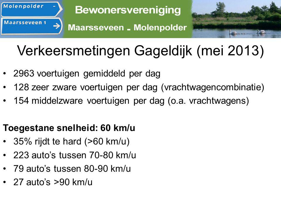 Verkeersmetingen Gageldijk (mei 2013)