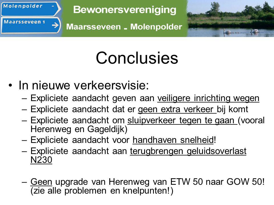 Conclusies In nieuwe verkeersvisie: