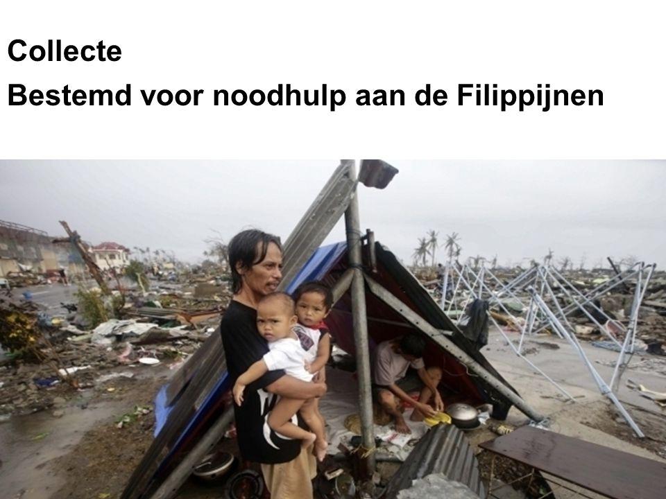 Collecte Bestemd voor noodhulp aan de Filippijnen