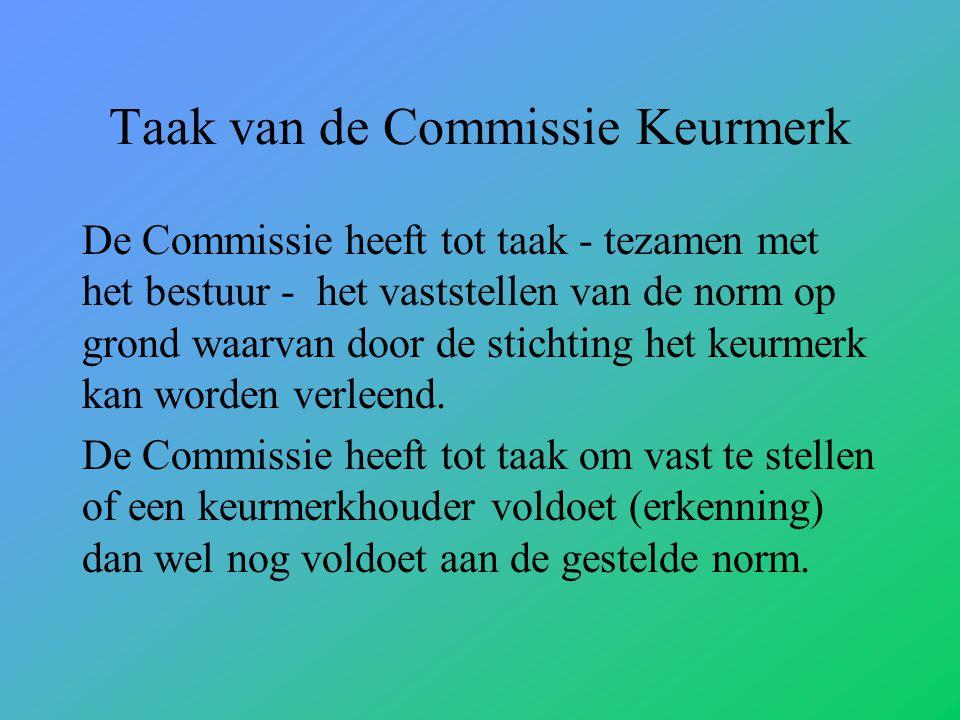 Taak van de Commissie Keurmerk