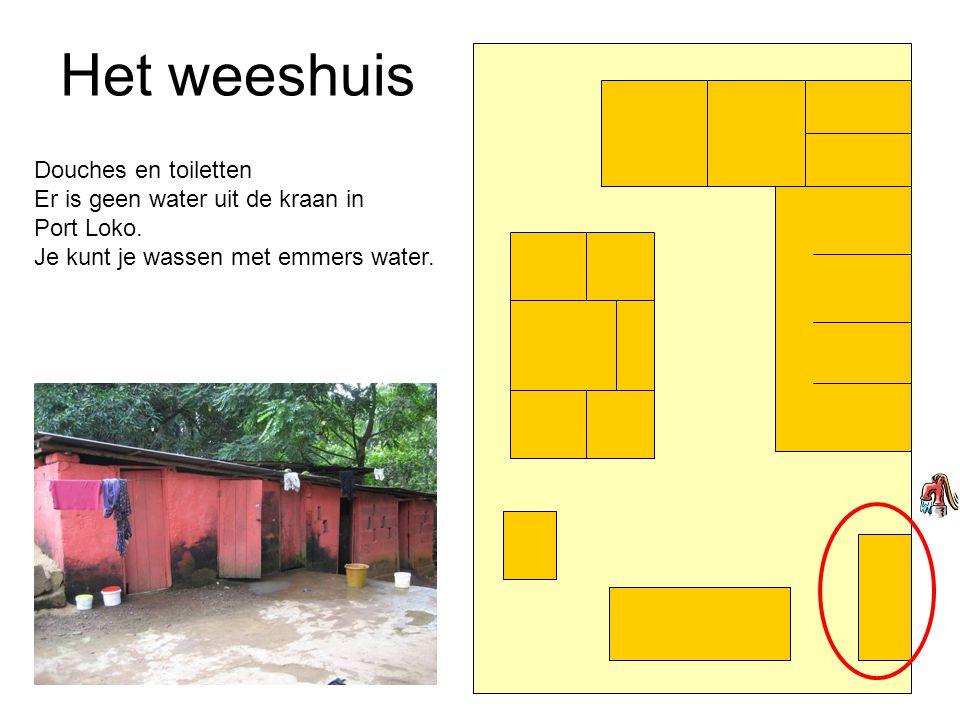 Het weeshuis Douches en toiletten Er is geen water uit de kraan in