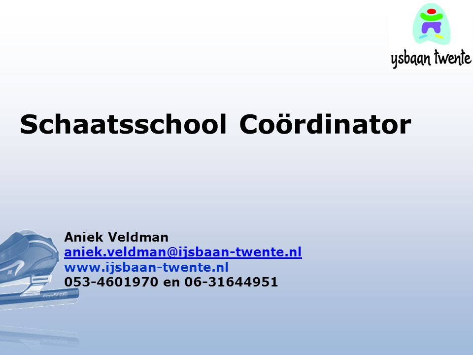 Schaatsschool Coördinator
