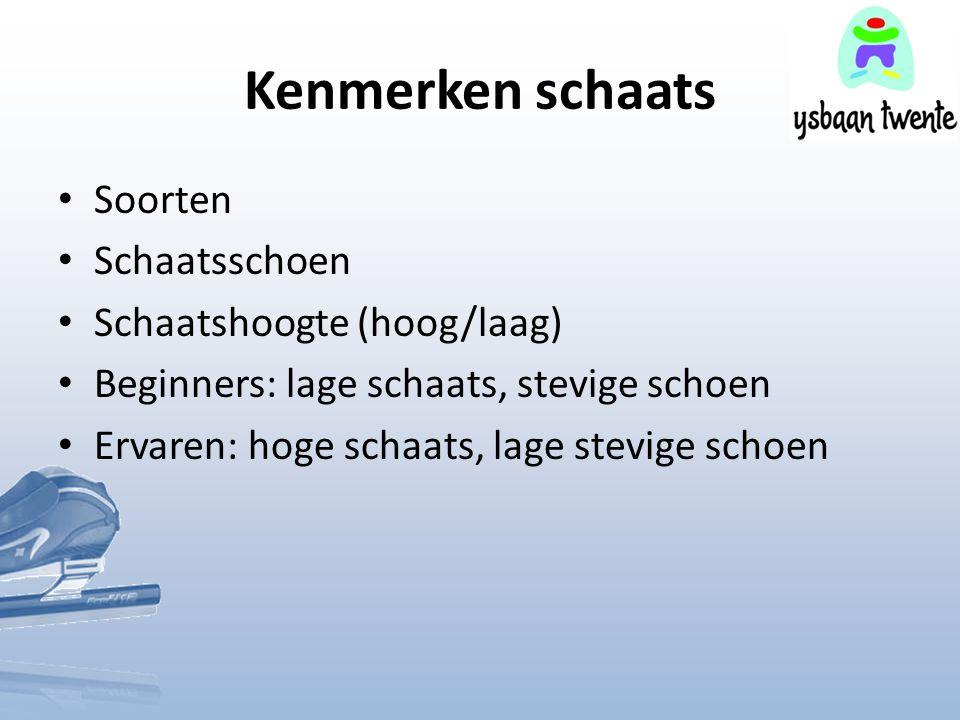 Kenmerken schaats Soorten Schaatsschoen Schaatshoogte (hoog/laag)