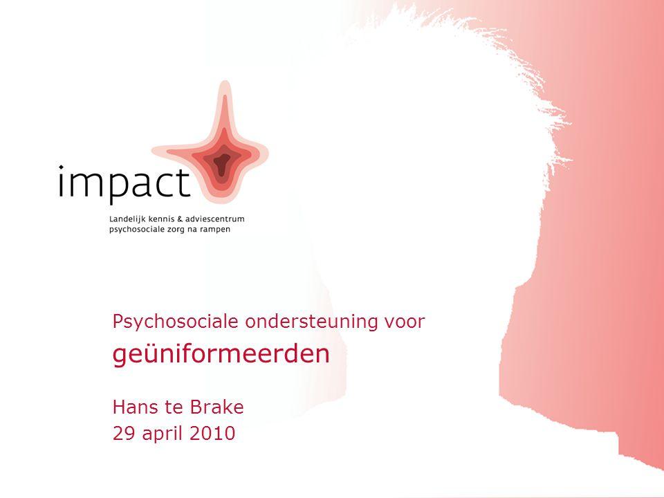 Psychosociale ondersteuning voor geüniformeerden