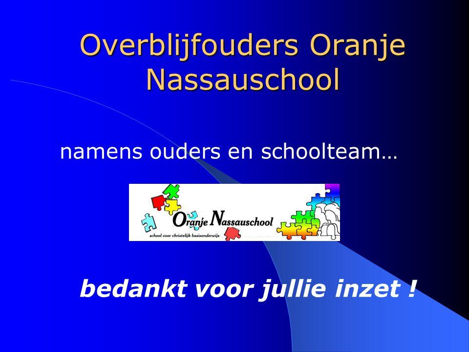 Overblijfouders Oranje Nassauschool