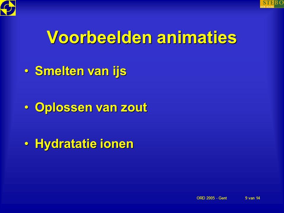 Voorbeelden animaties