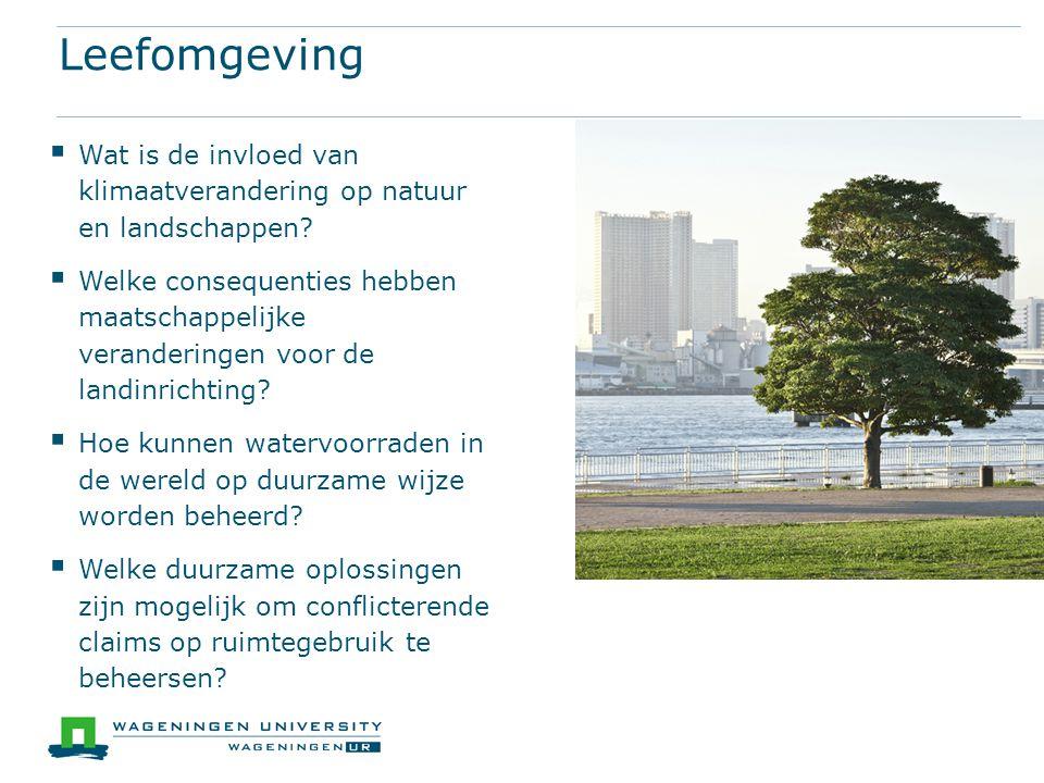 Leefomgeving Wat is de invloed van klimaatverandering op natuur en landschappen
