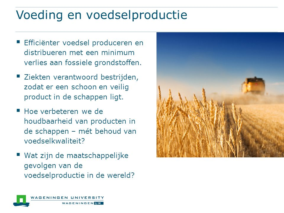 Voeding en voedselproductie