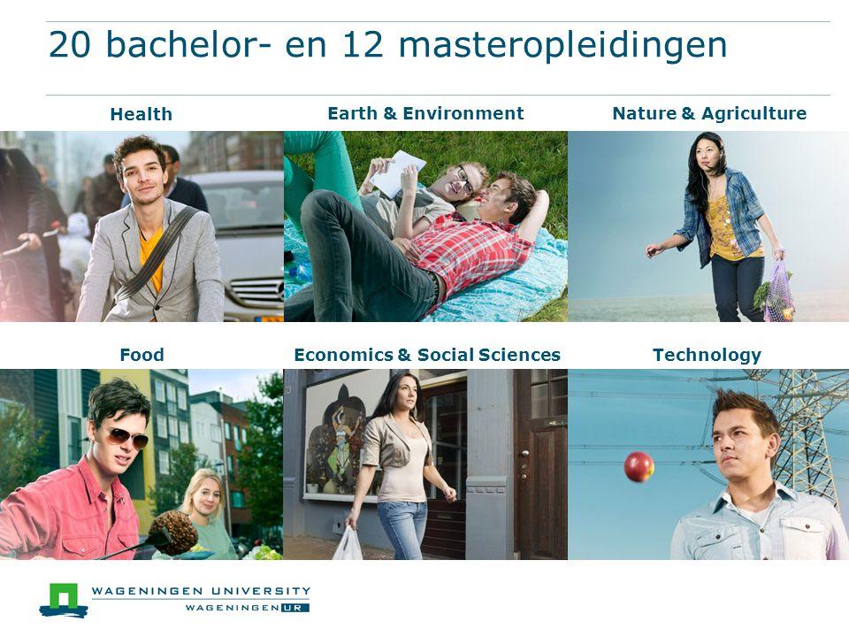 20 bachelor- en 12 masteropleidingen