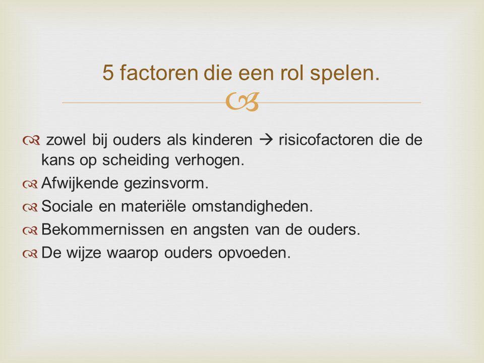5 factoren die een rol spelen.