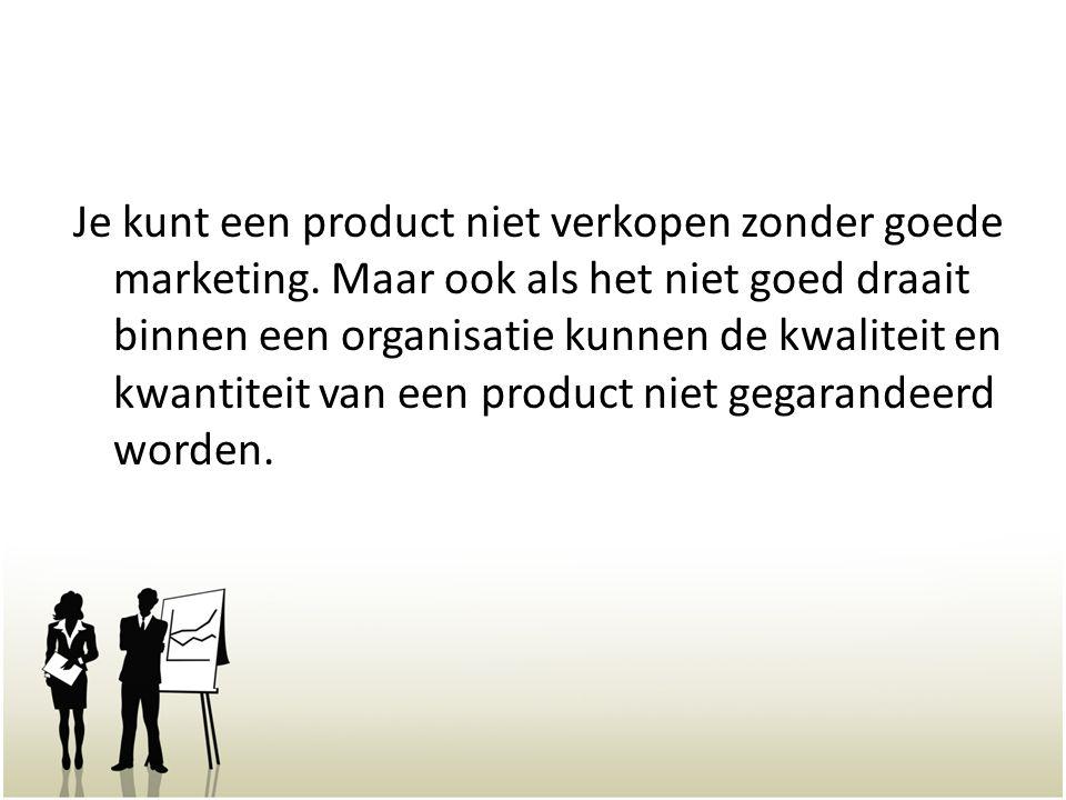 Je kunt een product niet verkopen zonder goede marketing