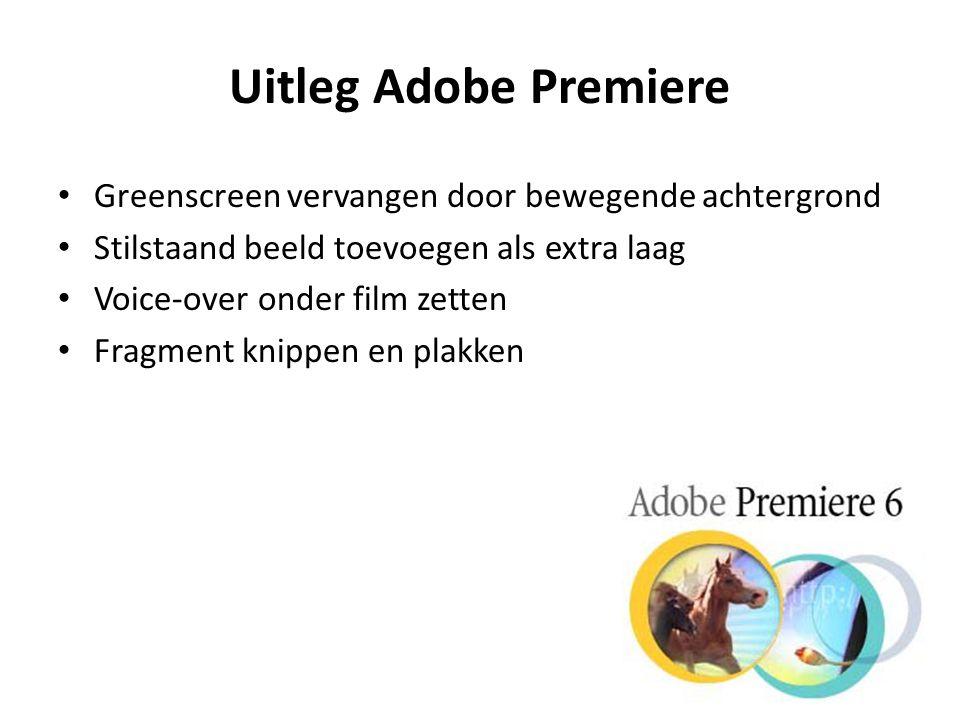 Uitleg Adobe Premiere Greenscreen vervangen door bewegende achtergrond