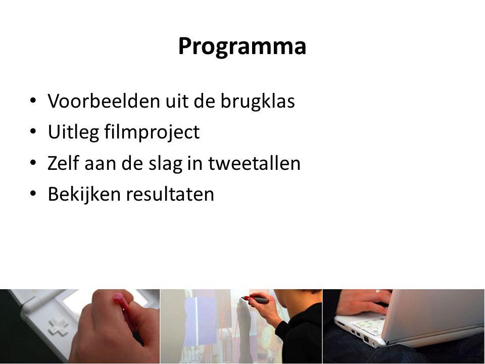 Programma Voorbeelden uit de brugklas Uitleg filmproject