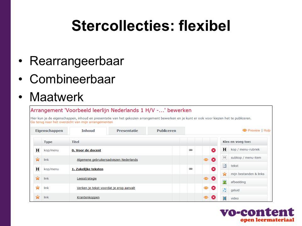 Stercollecties: flexibel