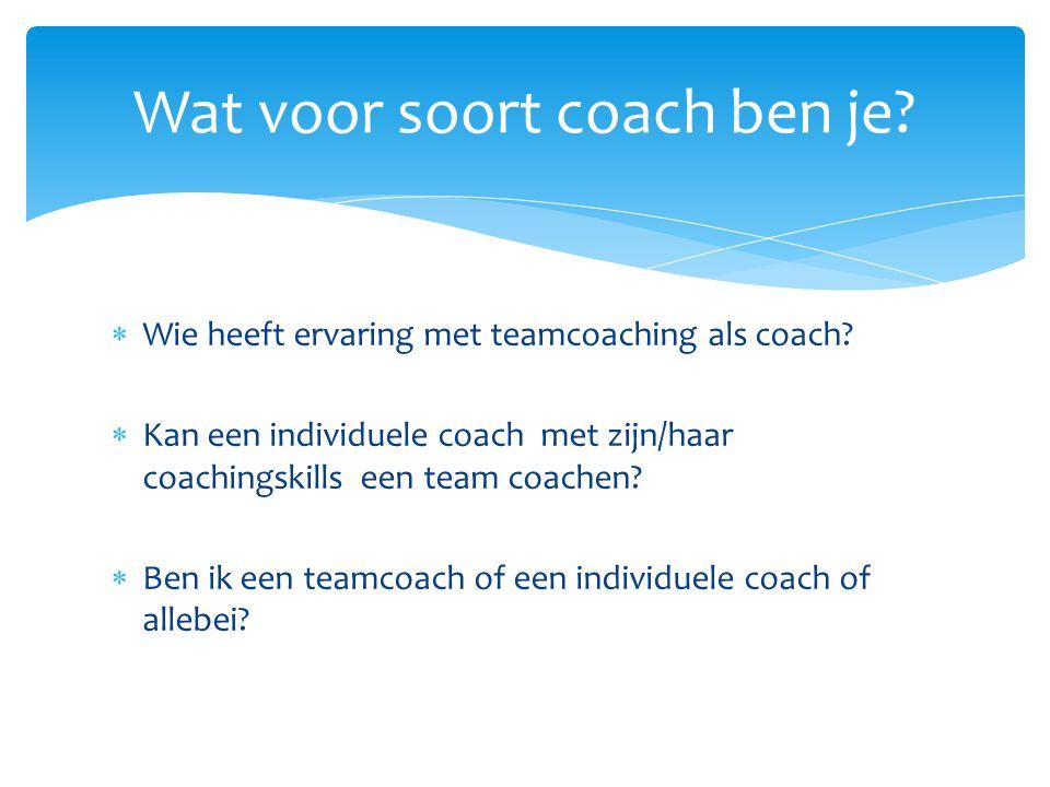 Wat voor soort coach ben je