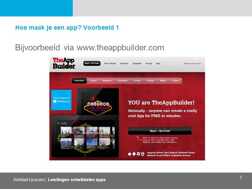 Bijvoorbeeld via www.theappbuilder.com