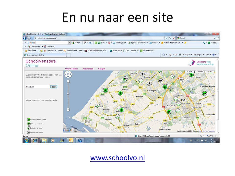 En nu naar een site www.schoolvo.nl