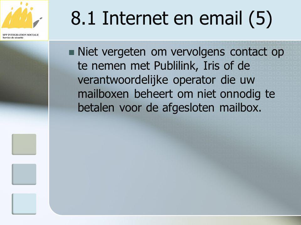 8.1 Internet en email (5)