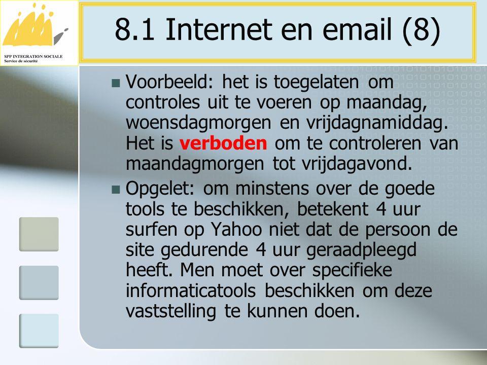 8.1 Internet en email (8)