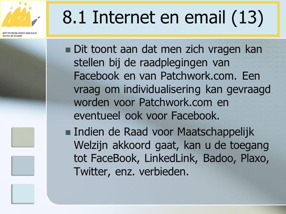 8.1 Internet en email (13)